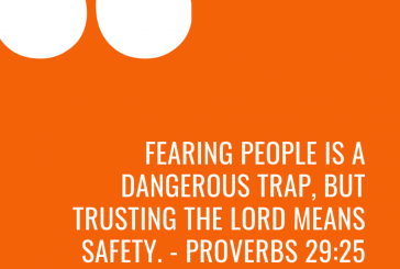 Daily Devotion and Bible Verse – Proverbs 29:25