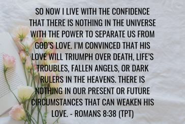 Daily Bible Verse and Devotion – Romans 8:38
