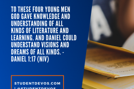 Daily Bible Verse and Devotion – Daniel 1:17