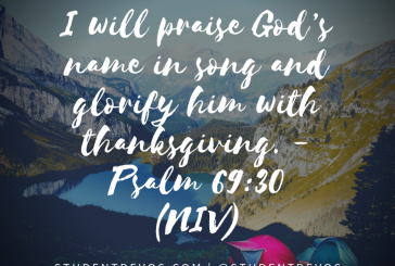 Daily Bible Verse and Devotion – Psalm 69:30