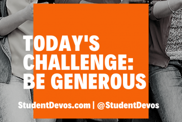 Today's Challenge – Be Generous