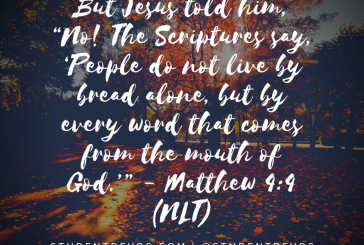 Daily Bible Verse and Devotion – Matthew 4:4