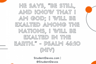 Daily Bible Verse and Devotion – Psalm 46:10