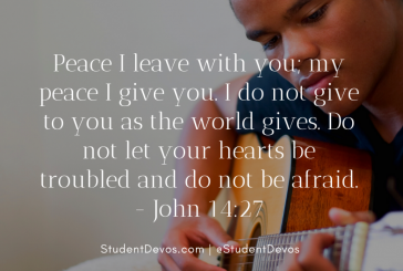 Daily Bible Verse and Devotion – John 14:27