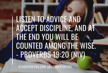Daily Bible Verse and Devotion – Proverbs 19:20
