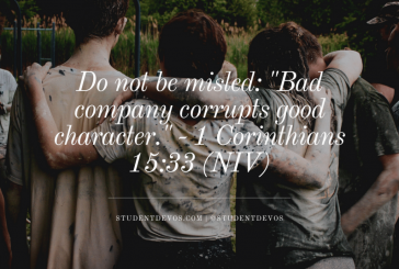 Daily Bible Verse and Devotion – 1 Corinthians 15:33