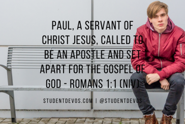 Daily Bible Verse and Devotional – Romans 1:1