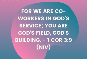 Daily Bible Verse and Devotion – 1 Cor 3:9