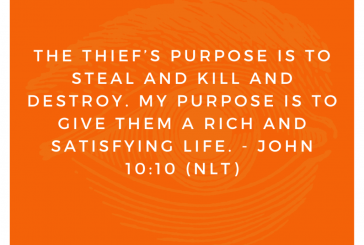 Daily Bible Verse and Devotion – John 10:10