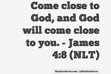Daily Bible Verse and Devotion – James 4:8