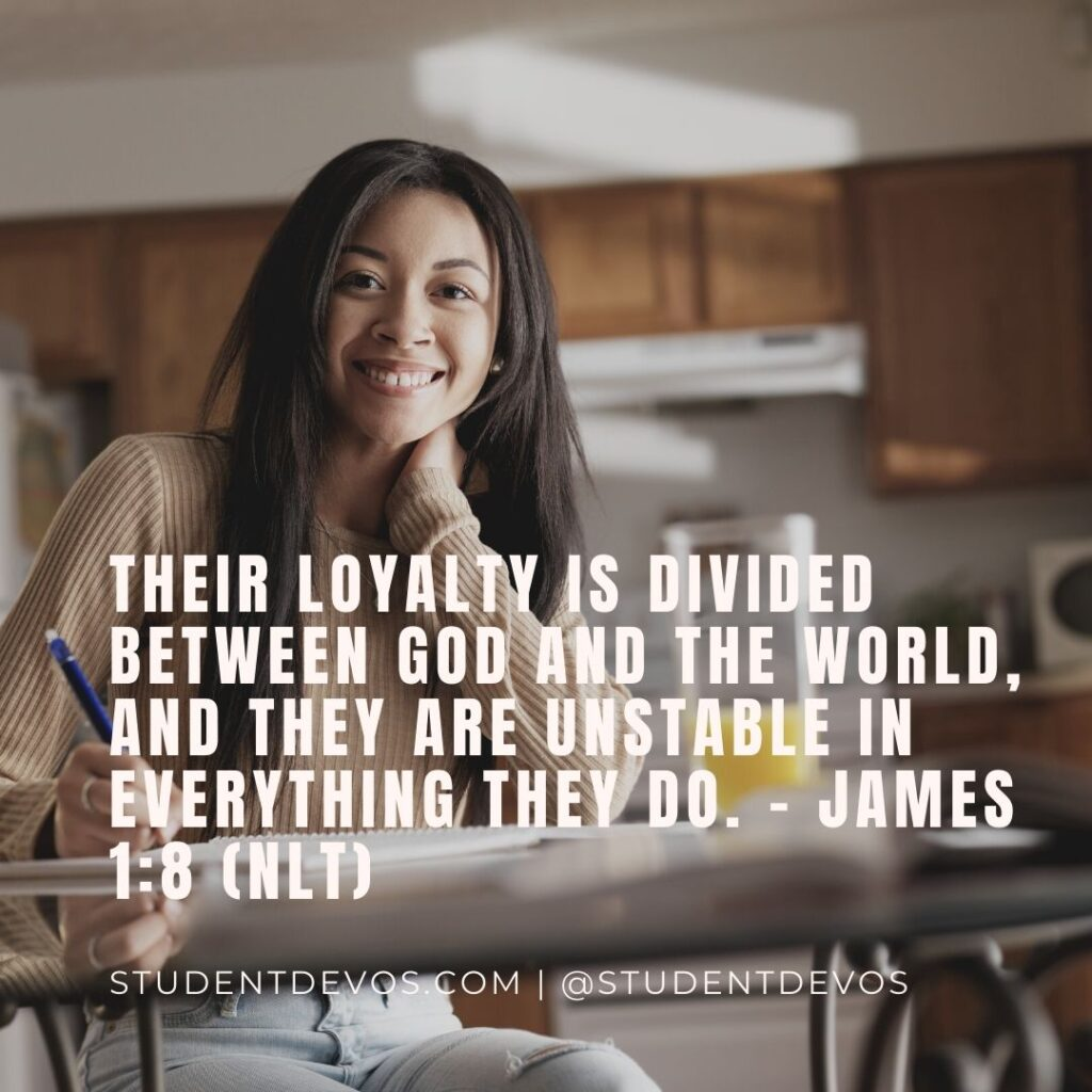 Daily Bible Verse and Devotion – James 1:8