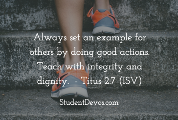 Daily Bible Verse and Devotion – Titus 2:7