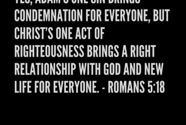 Daily Bible Verse and Devotion – Romans 5:18