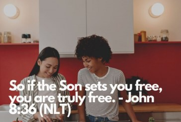 Daily Bible Verse and Devotion – John 8:36