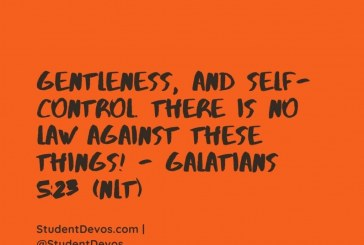 Daily Bible Verse and Devotion – Galatians 5:23