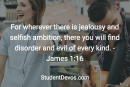 Daily Bible Verse and Devotion – James 1:16