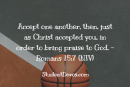 Daily Bible Verse and Devotion – Romans 15:7