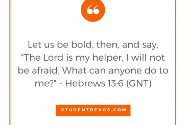 Daily Bible Verse and Devotion – Hebrews 13:6