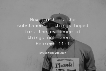Daily Devotion and Bible Verse – Hebrews 11:1
