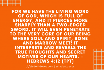 Daily Bible Verse and Devotion – Hebrews 4:12
