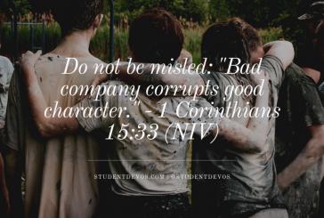 Daily Bible Verse and Devotion – 1 Corinthians 15:33