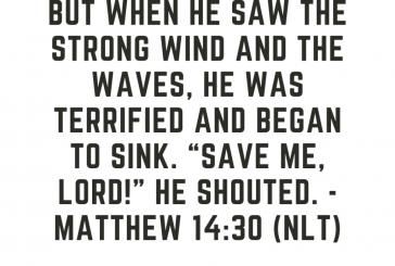 Daily Bible Verse and Devotion – Matthew 14:30