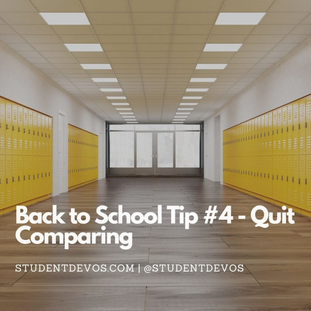 Back To School Tip #4 – Quit Comparing