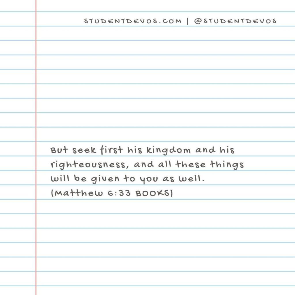 Daily Devotion and Bible Verse – Matthew 6:33